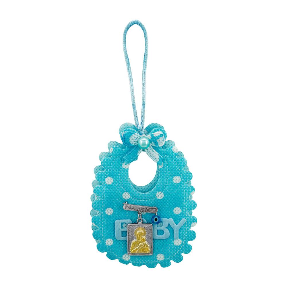 Παραμάνα Για Νεογέννητο Από Δίχρωμο Ασήμι PR515