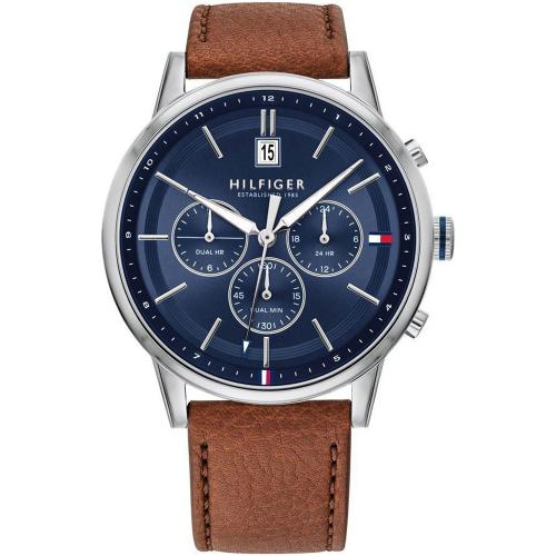TOMMY HILFIGER Kyle Brown Leather Strap 1791629