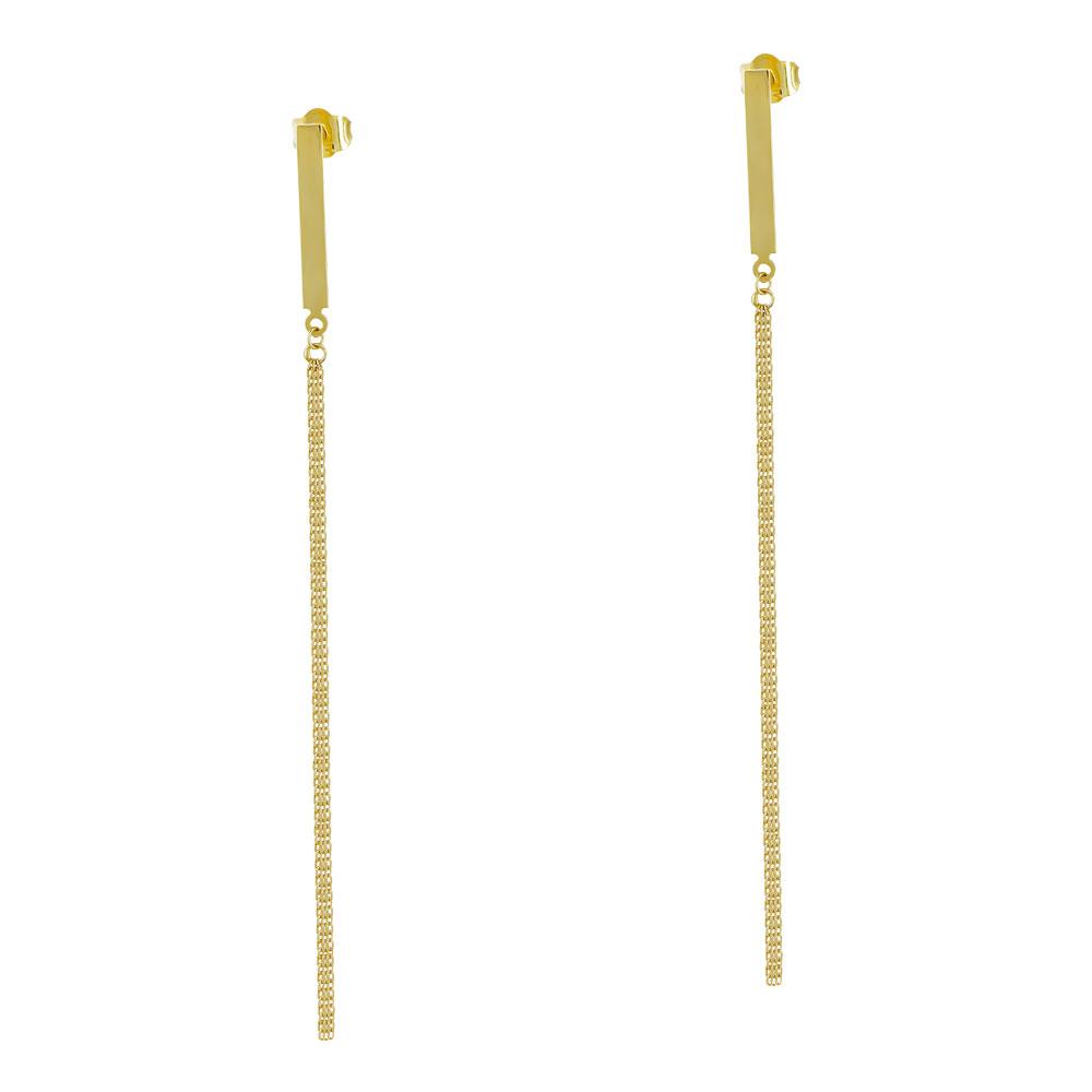Σκουλαρίκια Κρεμαστά Aπό Κίτρινο Χρυσό Κ14 SK1017