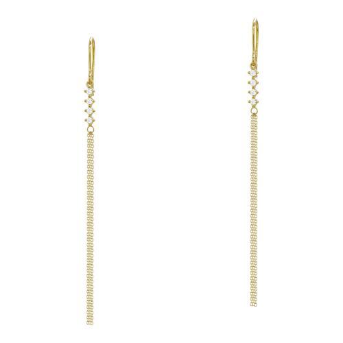 Σκουλαρίκια Kρεμαστά Από Κίτρινο Χρυσό Κ14 SΚ1009