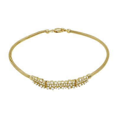 Βραχιόλι Με Πέτρες Από Κίτρινο Χρυσό Κ14 VR02490