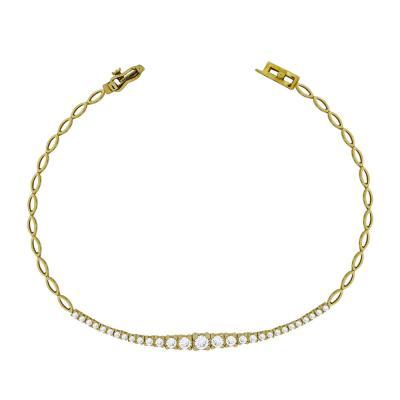 Βραχιόλι Με Πέτρες Από Κίτρινο Χρυσό Κ14 VR87568