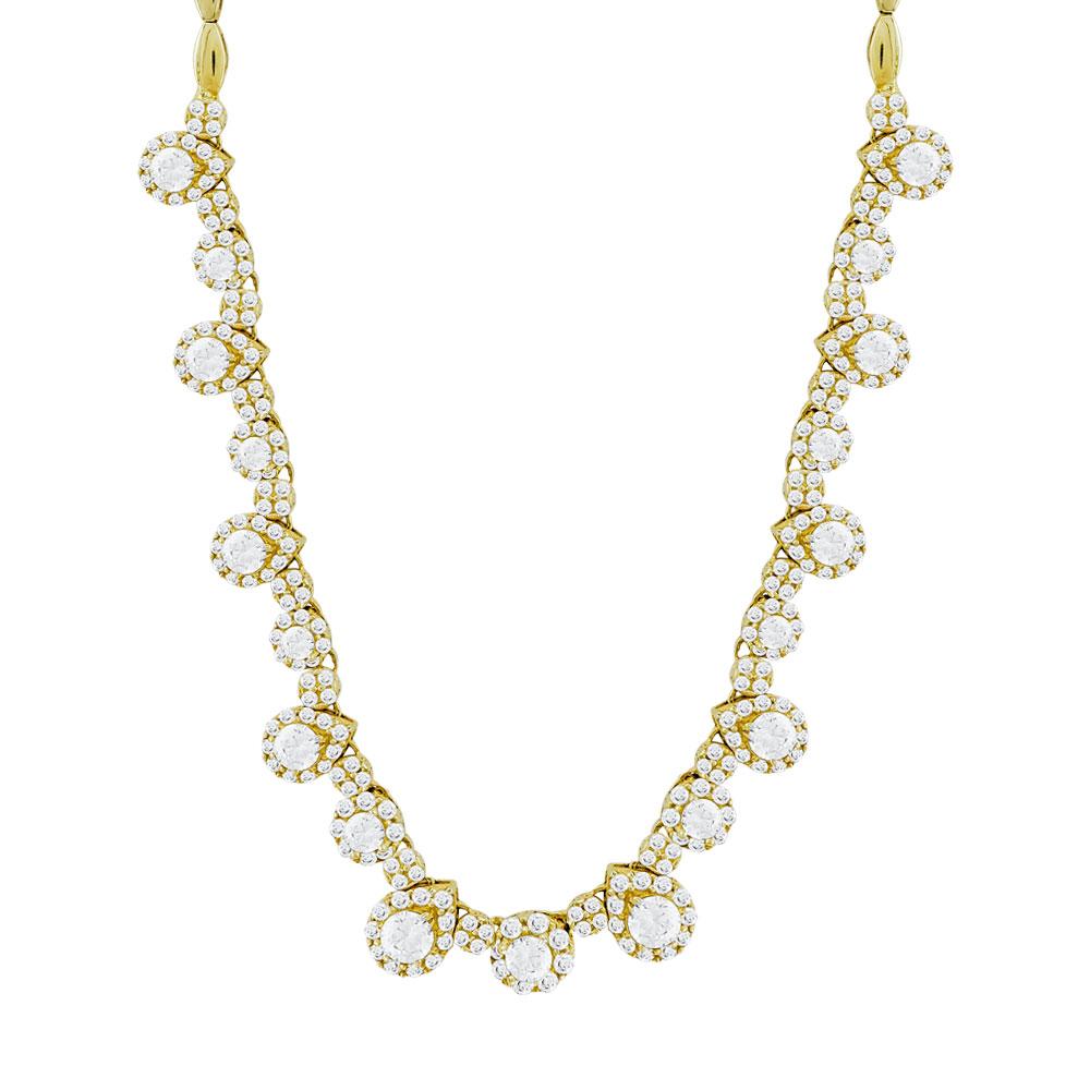 Κολιέ Με Πέτρες Από Κίτρινο Χρυσό K14 KL94827