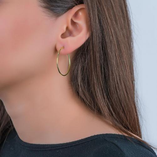 Σκουλαρίκια Κρίκοι Από Κίτρινο Χρυσό K14 SK01214