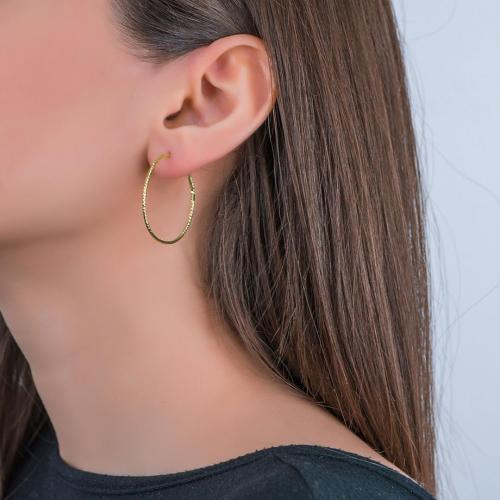Σκουλαρίκια Κρίκοι Από Κίτρινο Χρυσό K14 SK04618
