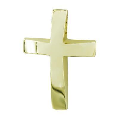 Σταυρός Βάπτισης Ανδρικός Σε Κίτρινο Χρυσό 14 Καρατίων ST2629