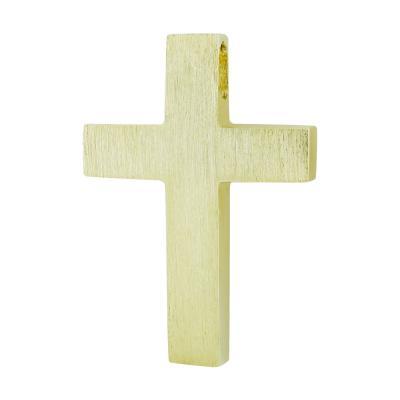 Σταυρός Βάπτισης Τριάντος Aνδρικός Σε Κίτρινο Χρυσό 14 Καρατίων ST2601