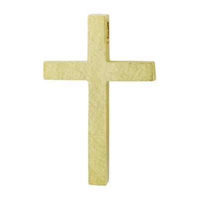 Σταυρός Βάπτισης Ανδρικός Σε Κίτρινο Χρυσό 14 Καρατίων ST2615