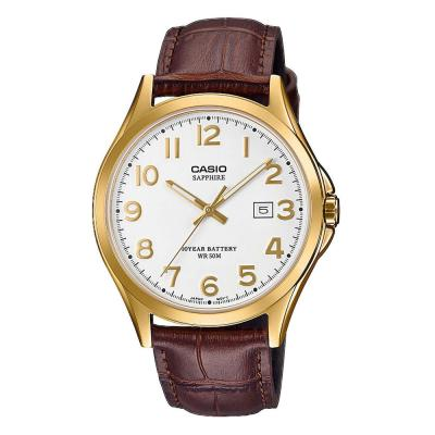 CASIO Collection Brown Leather Strap MTS-100GL-7AVEF