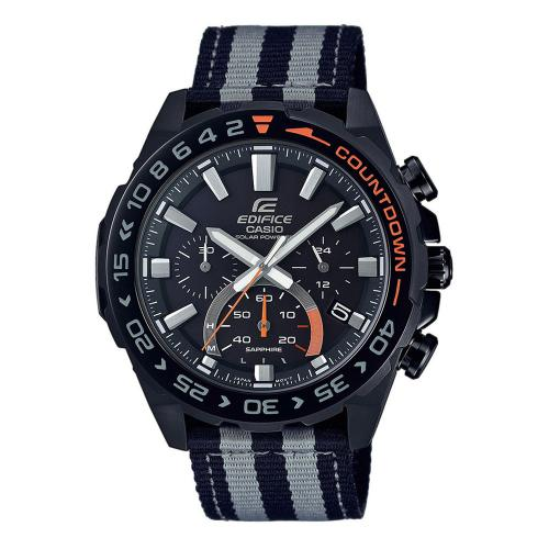 CASIO Edifice Solar Two Tone Fabric Chronograph EFS-S550BL-1AVUEF