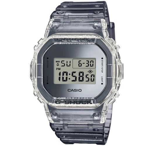 CASIO G-SHOCK Chronograph Grey Rubber Strap DW-5600SK-1ER