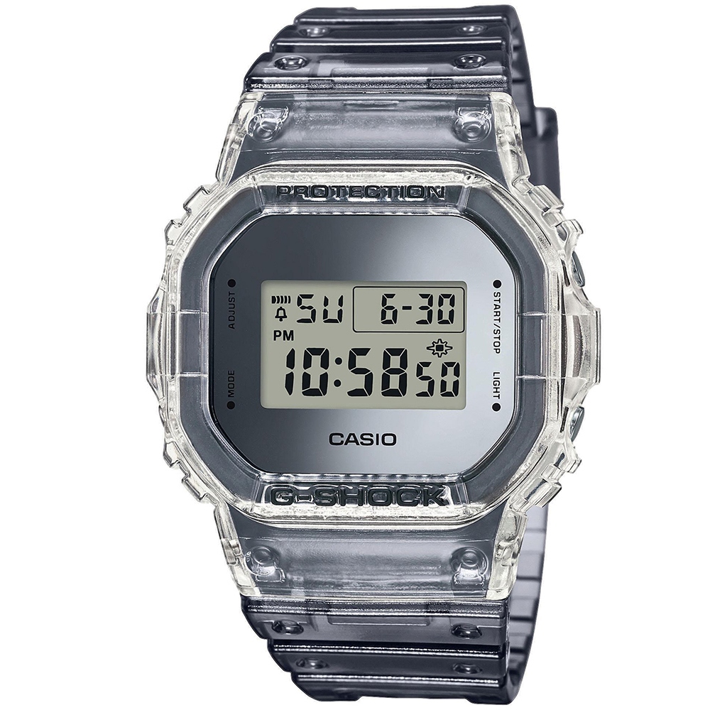 CASIO G-SHOCK Chronograph Grey Rubber Strap DW-5600SK-1ER