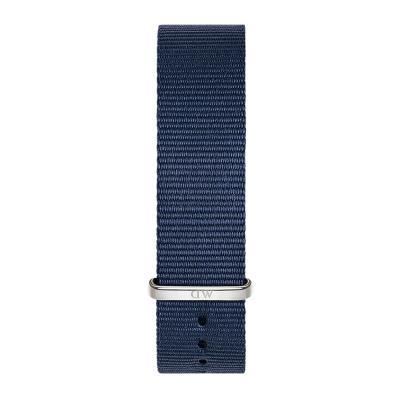 DANIEL WELLINGTON Classic Blue Cornwall Fabric Strap Silver 18 mm DW00200214