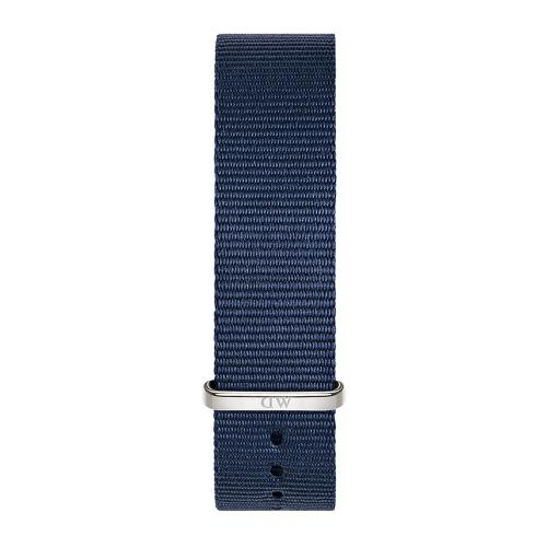 DANIEL WELLINGTON Classic Blue Cornwall Fabric Strap Silver 18 mm DW00200214