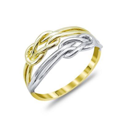 Δαχτυλίδι Με To Άπειρο Από Δίχρωμο Χρυσό Κ14 DX04639