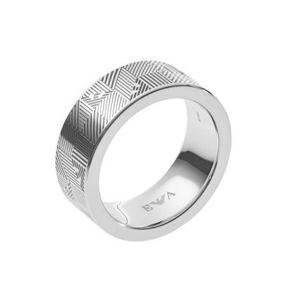 EMPORIO ARMANI Αντρικό Δαχτυλίδι από Ανοξείδωτο Ατσάλι EGS2508040