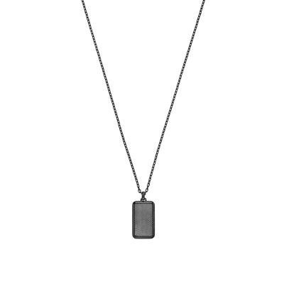 EMPORIO ARMANI Αντρικό Κολιέ από Μαύρο Ανοξείδωτο Ατσάλι EGS2255060
