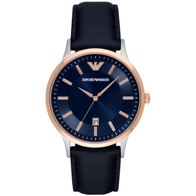 EMPORIO ARMANI Blue Leather Strap AR11188