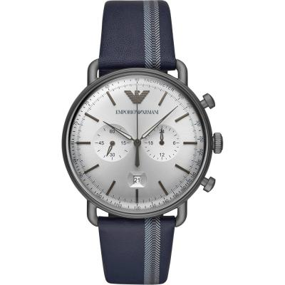 EMPORIO ARMANI Blue Leather Strap AR11202