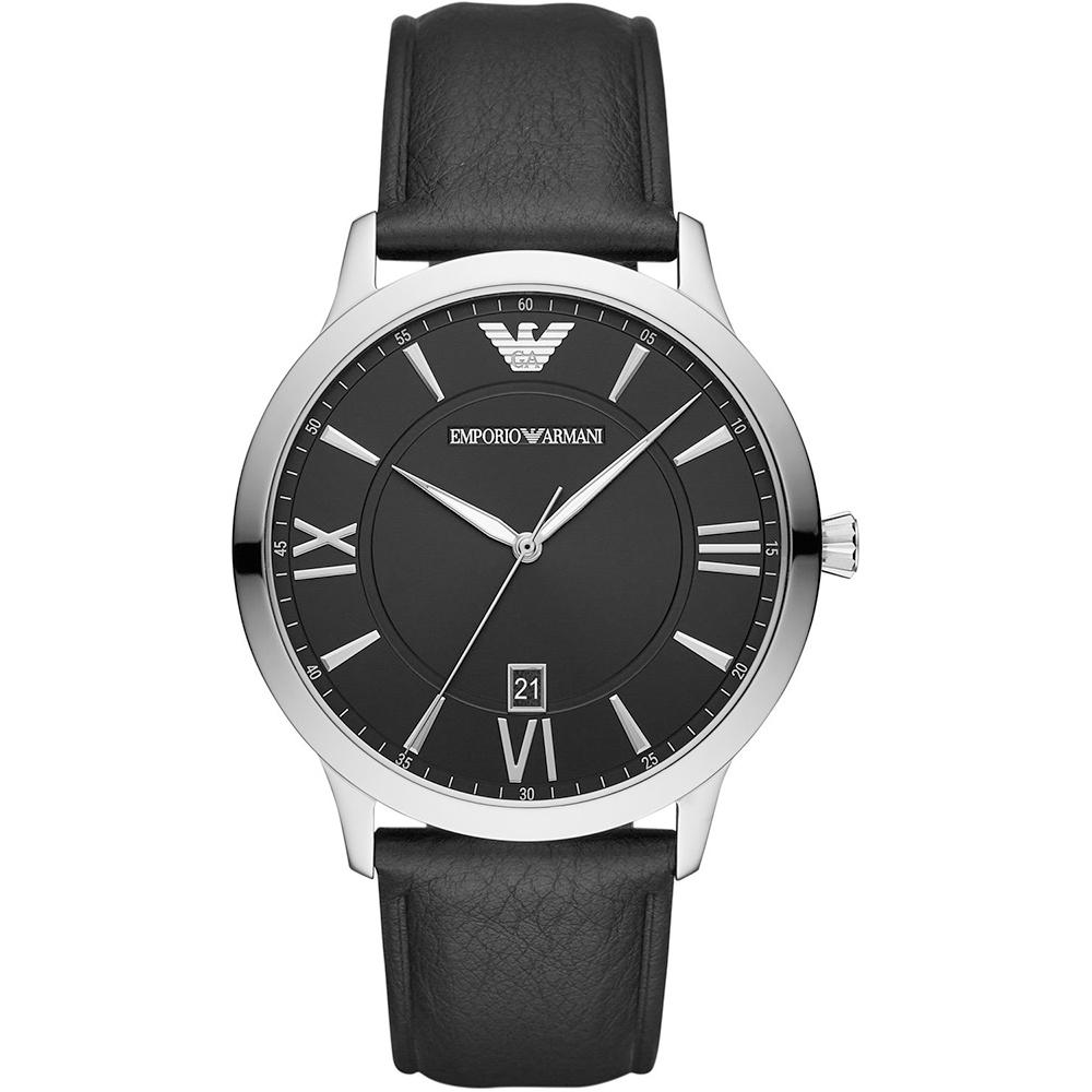 EMPORIO ARMANI Black Leather Strap AR11210
