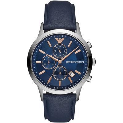 EMPORIO ARMANI Renato Blue Leather Strap AR11216