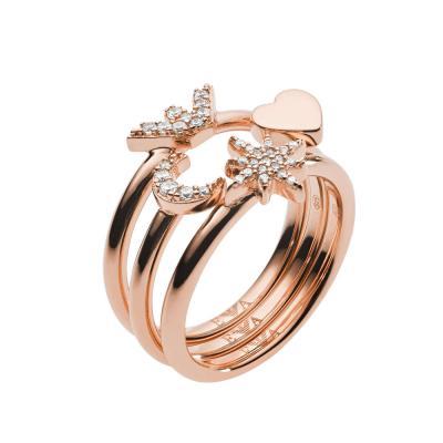EMPORIO ARMANI Γυναικείο Δαχτυλίδι από Ροζ Επιχρυσωμένο Ασήμι EG3392221
