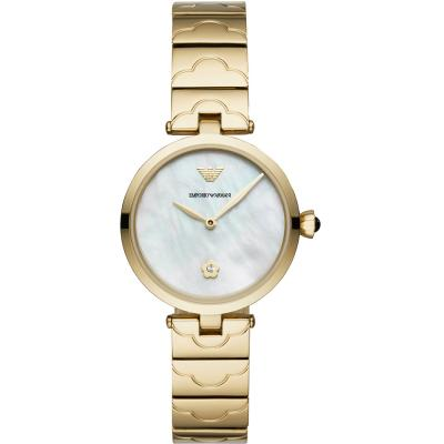 EMPORIO ARMANI Arianna Crystals Gold Stainless Steel Bracelet AR11198