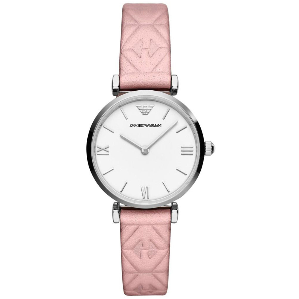 EMPORIO ARMANI Gianni T-Bar Pink Leather Strap AR11205