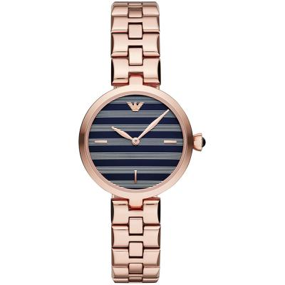 EMPORIO ARMANI Arianna Rose Gold Stainless Steel Bracelet AR11220