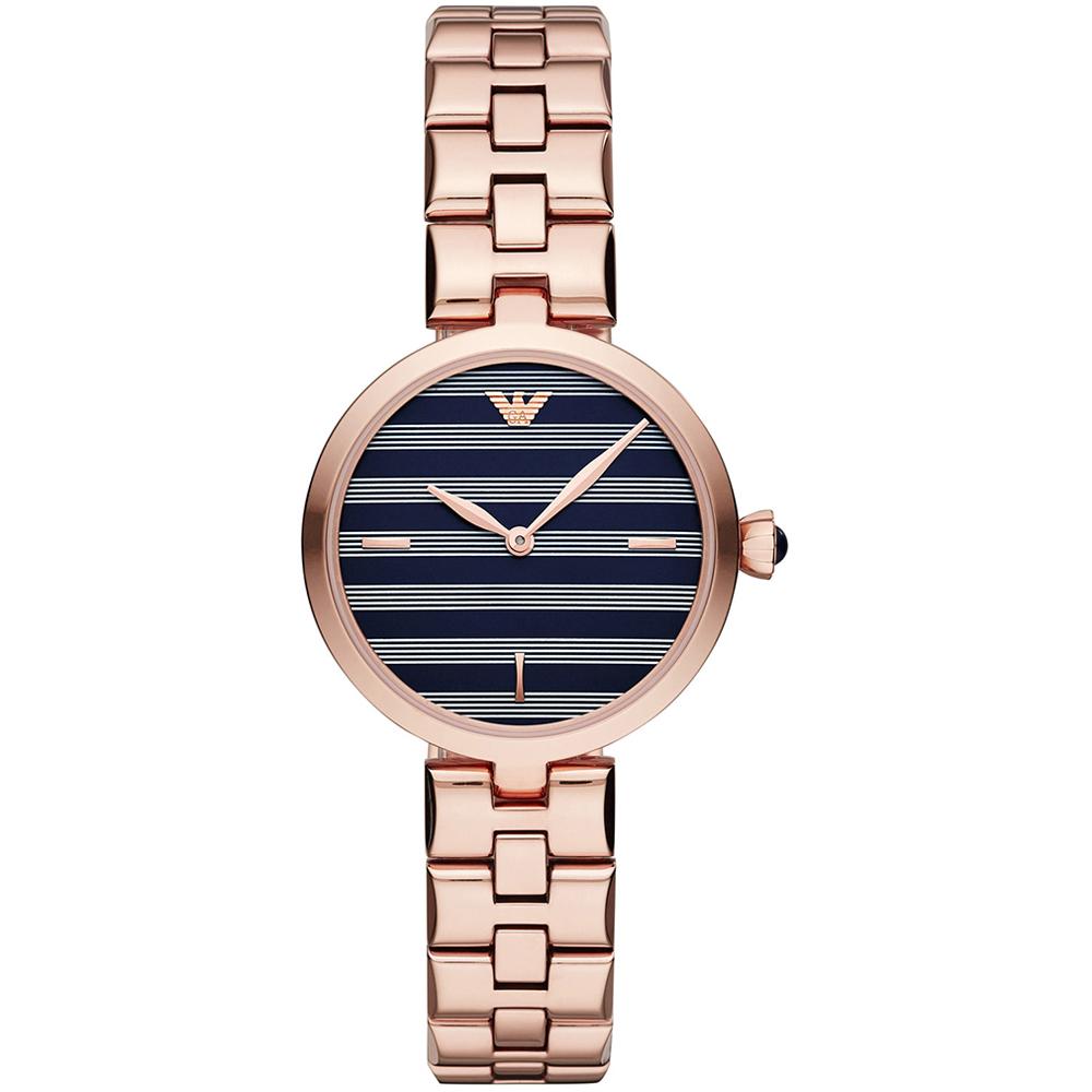 EMPORIO ARMANI Arianna Rose Gold Stainless Steel Bracelet AR11220