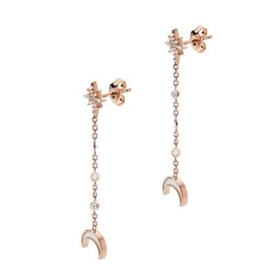 EMPORIO ARMANI Γυναικεία Σκουλαρίκια από Ροζ Επιχρυσωμένο Ασήμι EG3397221