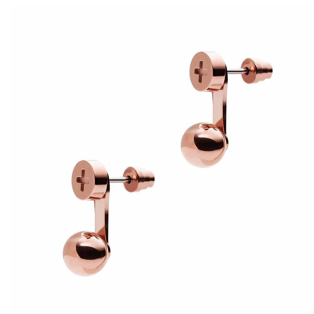 EMPORIO ARMANI Σκουλαρίκια από Ροζ Επιχρυσωμένο Ανοξείδωτο Ατσάλι EGS2242221