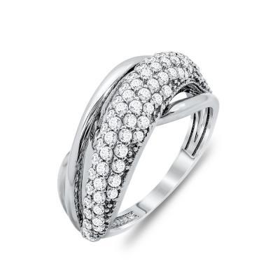 Δαχτυλίδι Μοντέρνο Από Λευκόχρυσο Κ14 DX44727