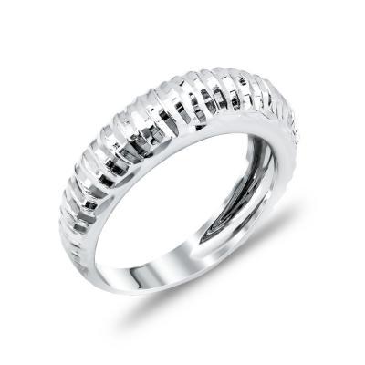 Δαχτυλίδι Με Χαρακιές Από Λευκόχρυσο Κ14 DX48700