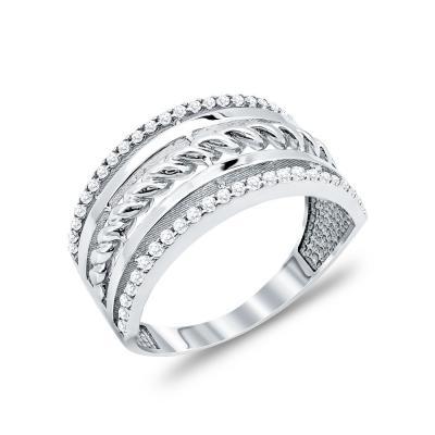 Δαχτυλίδι Φαρδύ Από Λευκόχρυσο Κ14 DX48083