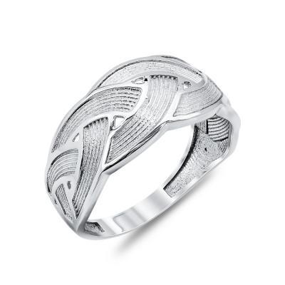 Δαχτυλίδι Με Πλέξεις Από Λευκόχρυσο Κ14 DX04642