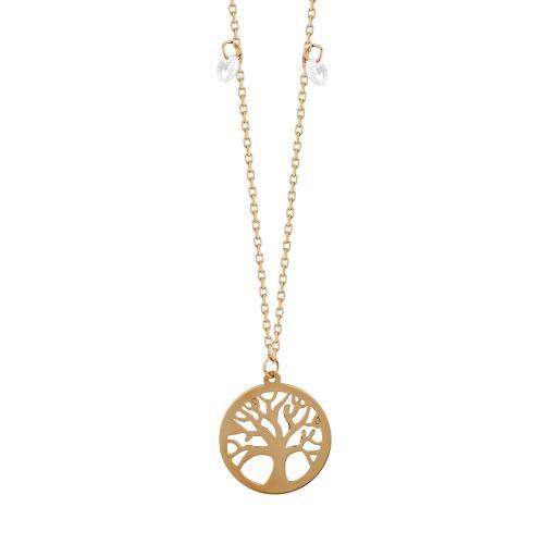 Μενταγιόν Το Δέντρο Της Ζωής Από Ροζ Χρυσό Κ14 M04675
