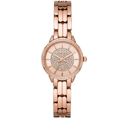 Michael KORS Allie Crystals Rose Gold Stainless Steel Bracelet MK4413