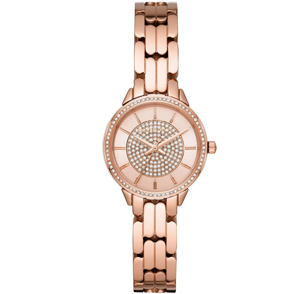 Michael KORS Allie Crystals Rose Gold Stainless Steel Bracelet MK4413
