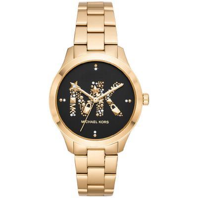Michael KORS Runway Crystals Gold Stainless Steel Bracelet MK6682