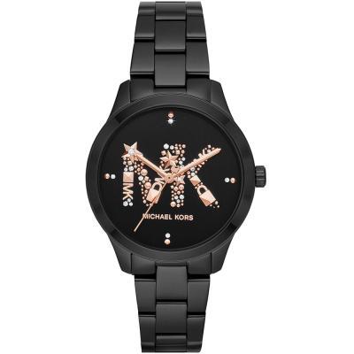 Michael KORS Runway Crystals Black Stainless Steel Bracelet MK6683