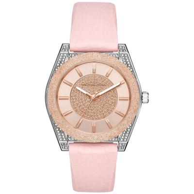 Michael KORS Channing Crystals Pink Silicone Strap MK6704