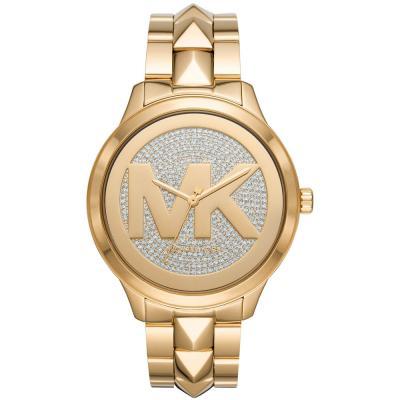 Michael KORS Runway Mercer Crystals Gold Stainless Steel Bracelet MK6714