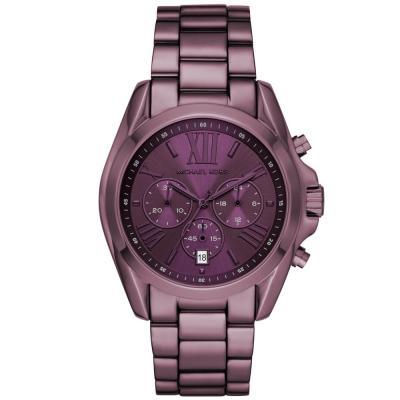 Michael KORS Bradshaw Chronograph Purple Stainless Steel Bracelet MK6721