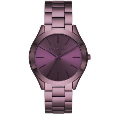 Michael KORS Slim Runway Purple Stainless Steel Bracelet MK4415