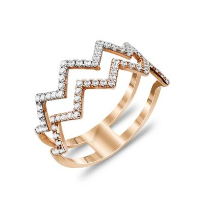 Δαχτυλίδι Με Πέτρες Από Ροζ Χρυσό Κ14 DX91862
