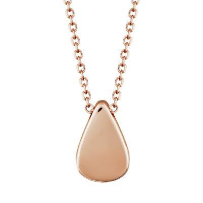 Μενταγιόν Δάκρυ Από Ροζ Χρυσό Κ9 M99653