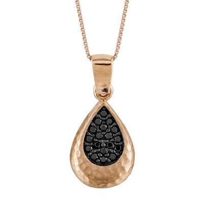 Μενταγιόν Δάκρυ Με Πέτρες Από Ροζ Χρυσό Κ14 M97490