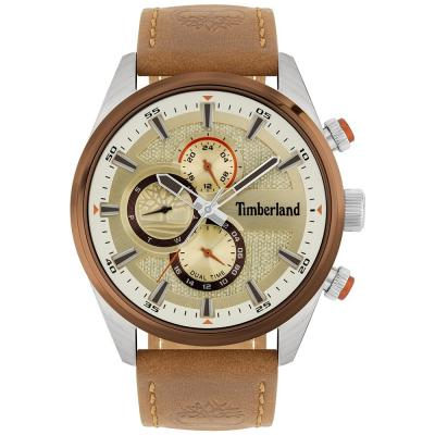 TIMBERLAND Ridgeview Dual Time Brown Leather Strap 15953JSTBN-04