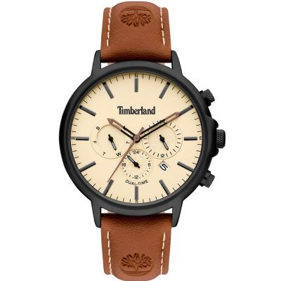 TIMBERLAND Langdon Dual Time Brown Leather Strap 15651JYB-01